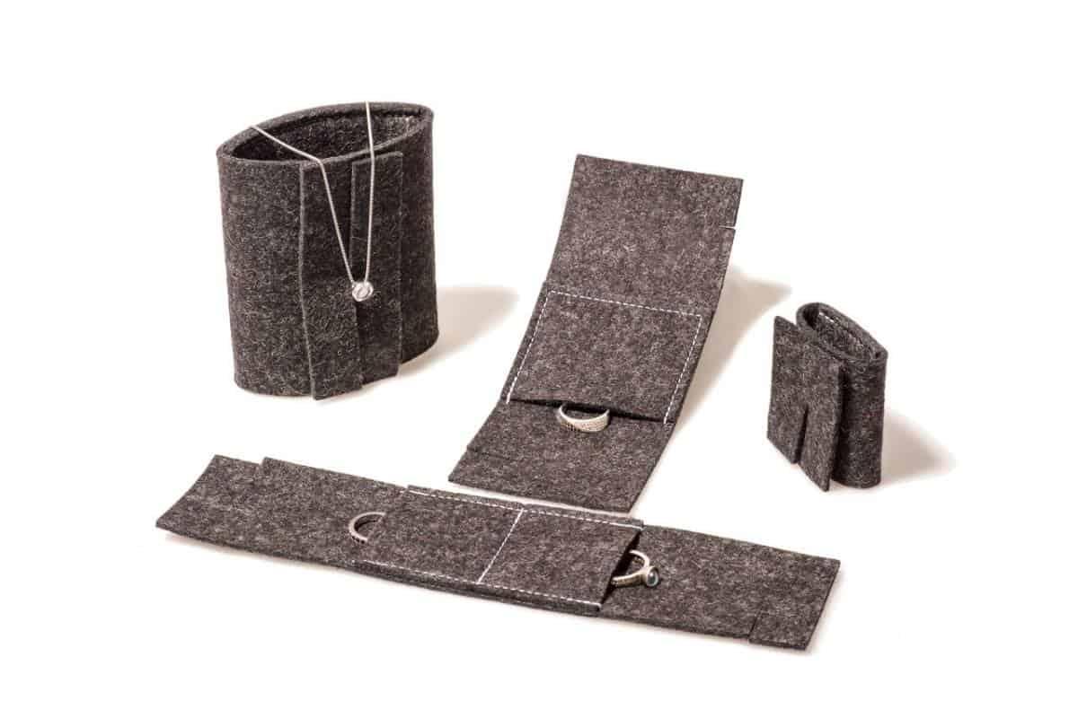 Wollfilzverpackungen für Schmuck & Eheringe