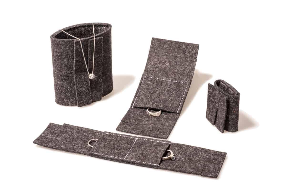 Edle Verpackungen aus Filz z.B. für Ringe oder Ketten