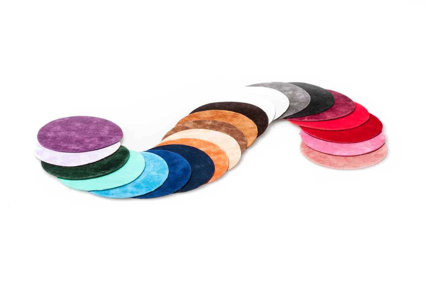 Veloursverpackung für Schmuck und Accessoires - große Farbauswahl