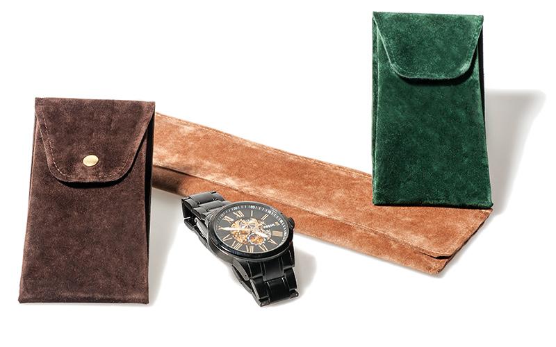 Uhrentaschen aus Velours